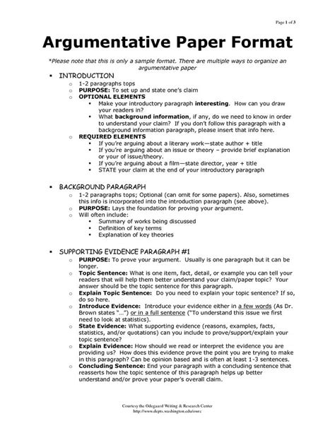 Argumentative Essay Introduction by Outline Of Argumentative Essay Sle Search My Class Best