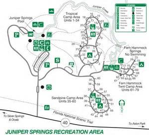 cground map juniper springs recreation area