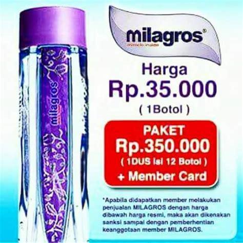 Air Kesehatan Milagros Per Botol jual milagros eceran