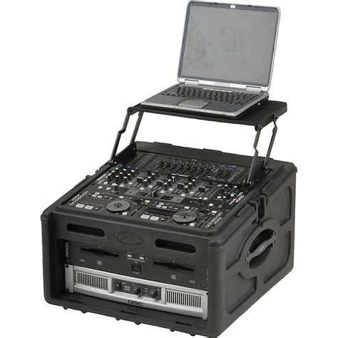 skb roto rack console audio and dj rack 10 x 4