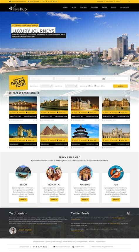 Go Html Template by Travel Hub Touring Packages Html Template By