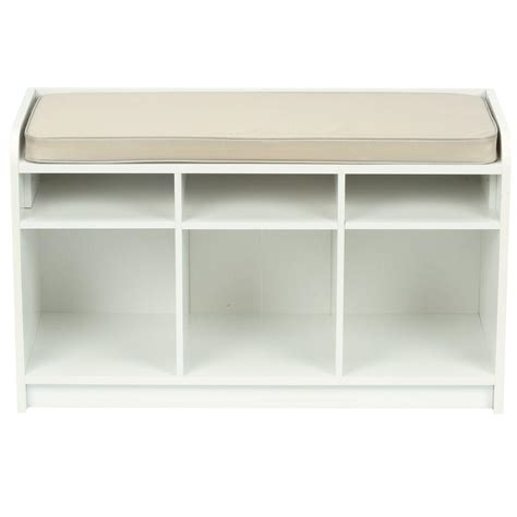 white storage seat bench martha stewart living 35 in x 21 in white storage bench