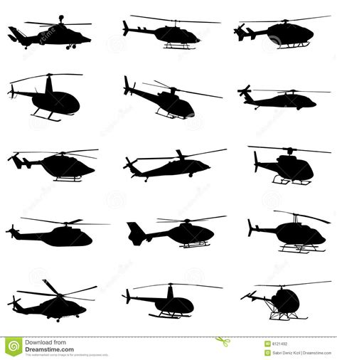 P L Helikopter Set helicopter set vector stock vector illustration of