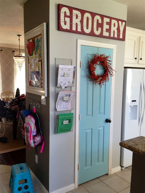 painted pantry door behr ocean kiss walls dolphin fin