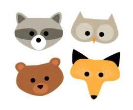 woodland animal masks template woodland creature masks alpha
