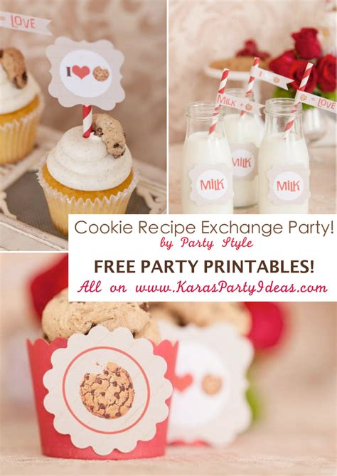 printable biscuit recipes cute cookie recipe exchange party with free printable tags