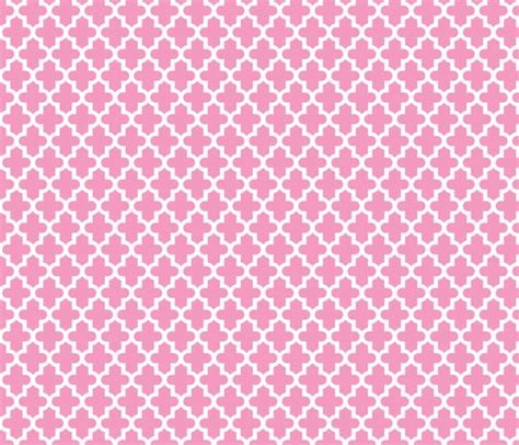 Pink Moroccan Pattern | bubblegum pink moroccan wallpaper sweetzoeshop spoonflower
