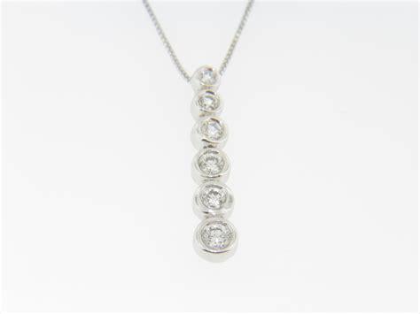 contemporary 0 25ctw 6 tier pendant necklace