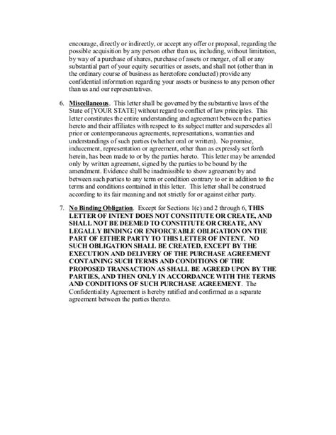 Letter Of Intent To Use Services Template Sle Letter Of Intent