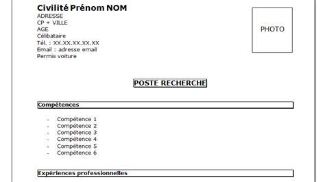 Modèle Présentation Cv by Resume Format Pr 233 Sentation Cv Titre