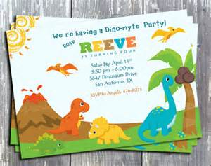 dinosaur birthday theme digital invitation card printable edesignsstudio digital