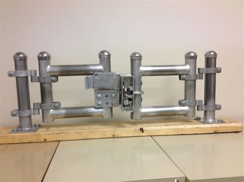 double swing gate latch american ultra latch a perfect fit for substation and