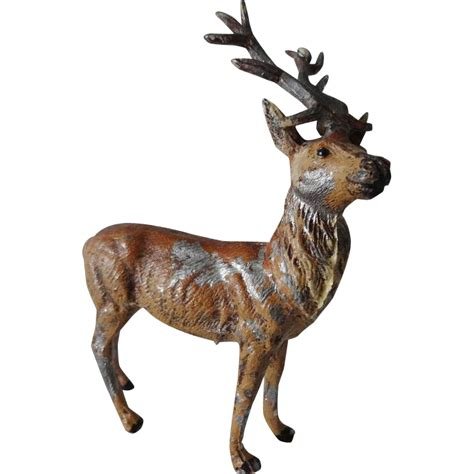 antique german christmas reindeer figures from nuffsstuff
