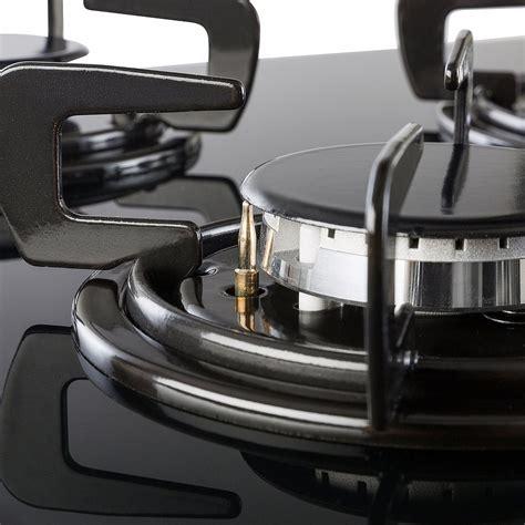 piano cottura a gas in vetro piano cottura gas in vetro 5 fuochi in acciaio inox 70 cm