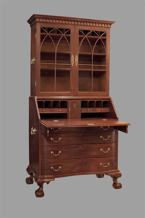 Boston Chippendale Secretary Desk Circa 1780 1790 Secretarys Desk