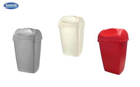 red swing bin swing bins 50l power home products