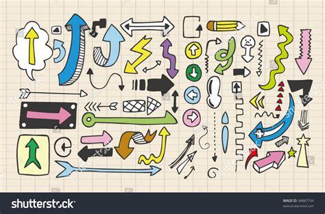 doodle archery arrow doodles stock vector 58887794