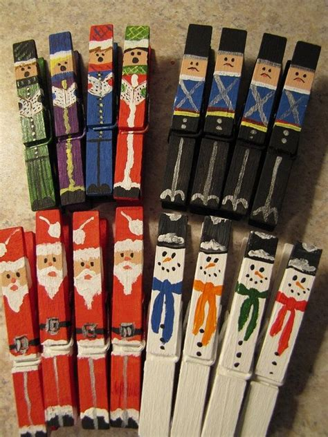 christmas clothespins crafts christmas pinterest