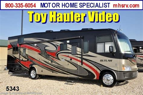 2013 Thor Motor Coach RV Outlaw Class A Toy Hauler Motorhome for Sale (3611) for Sale in