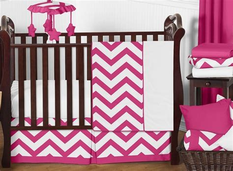 Pink And White Chevron Crib Bedding Pink And White Chevron Zigzag Baby Bedding 11pc Crib Set By Sweet Jojo Designs Only 189 99