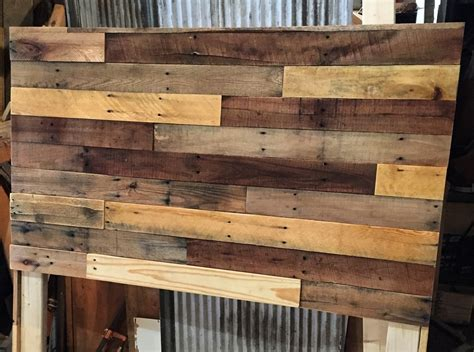 Pallet Wood Headboard Pallet Wood Headboard Diy Revival Woodworks
