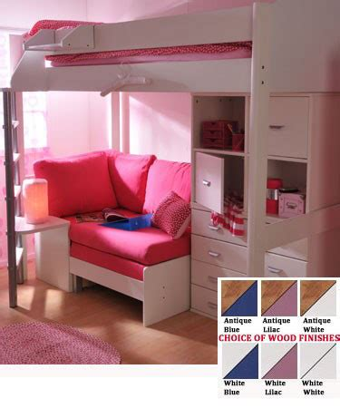 girls loft bed with desk teen girls loft bed with desk stompa casa 6 kids high sleeper bunk bed sofa bed