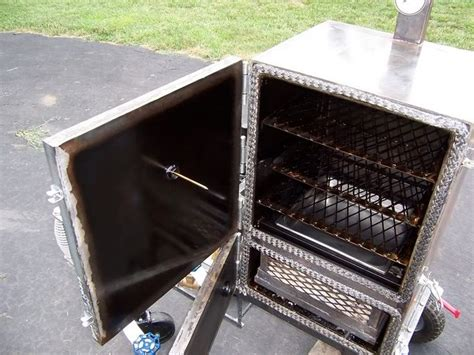 how to build a heated cabinet new build trailer mounted reverse flow smoker bbq