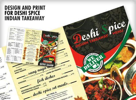 design takeaway menu online takeaway printed menus ufold menu printing uk