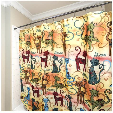 cats shower curtain festival cats shower curtain the animal rescue site