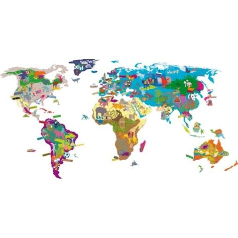 map of world wall sticker world map wall sticker for the ones