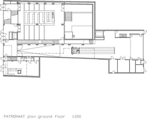 loading dock floor plan patronaat in haarlem the netherlands by diederendirrix architects