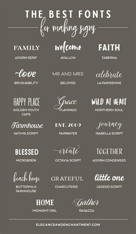 fonts  making signs elegance enchantment