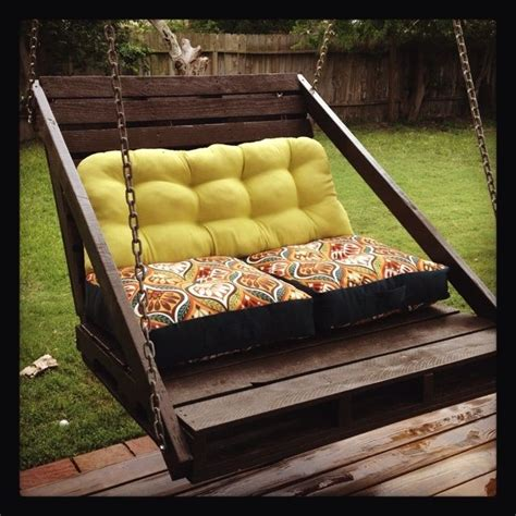 how to make a pallet porch swing diy porch swing made from 2 pallet repurpose pinterest