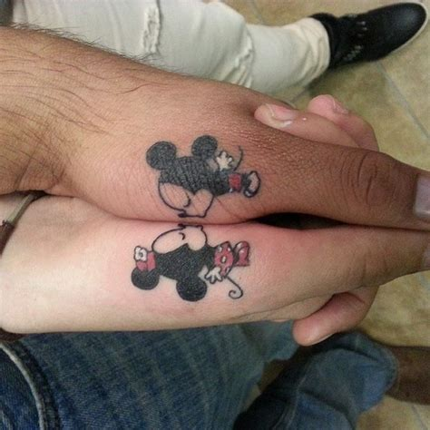 couples tattoos on fingers custom of finger ideas for couples