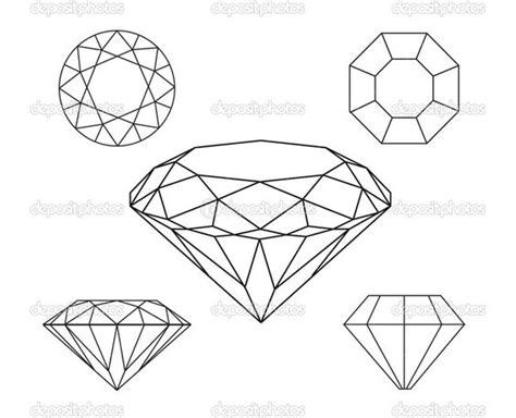 rough layout definition diamond line drawing google search jewelry rendering