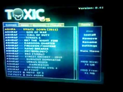 Ps2 Hdd Na 80gb toxic os 0 41 for playstation2 newly released my ps2 with hdd 80 gb