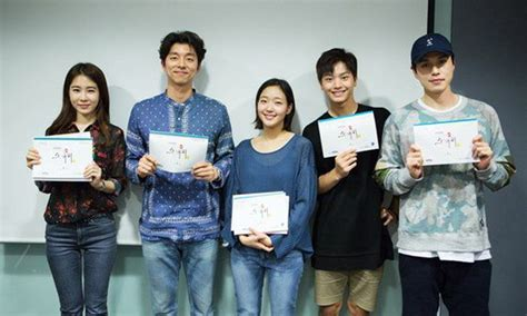 K Drama Goblin 2016 tvn new drama quot goblin quot releases pictures from script reading koreaboo