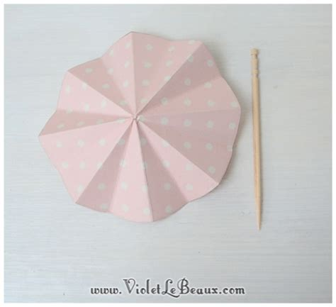 pattern for paper umbrella how to make cute paper drink umbrellas violet lebeaux