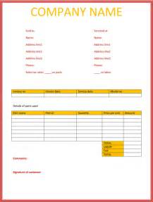 word invoice templates simple service invoice template invoice exle