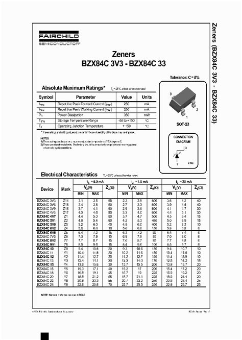 diode data sheets free bzx84c5v1 209227 pdf datasheet ic on line
