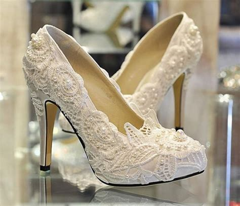 white lace ballet flat wedding shoes pearl white lace bridal shoes ballet flat shoes