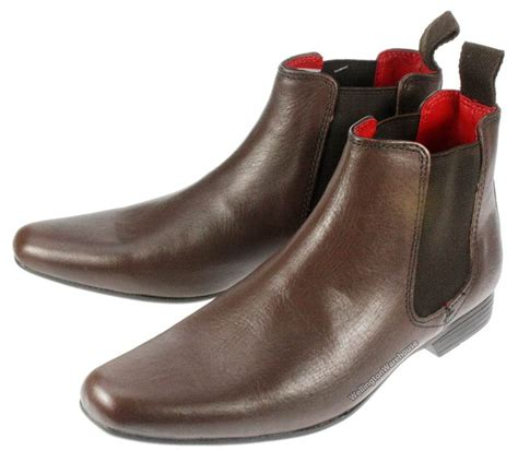 boys garforth leather pointed toe chelsea boots uk 1 6 ebay
