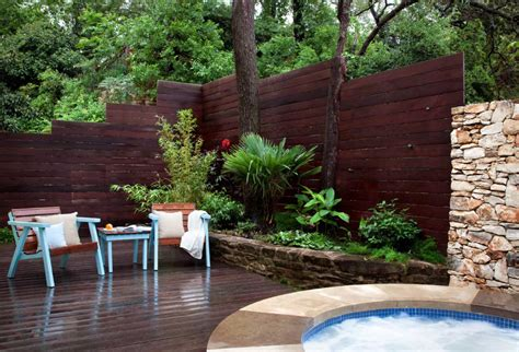 backyard privacy wall ideas cable railing ideas with a sleek design and maximum