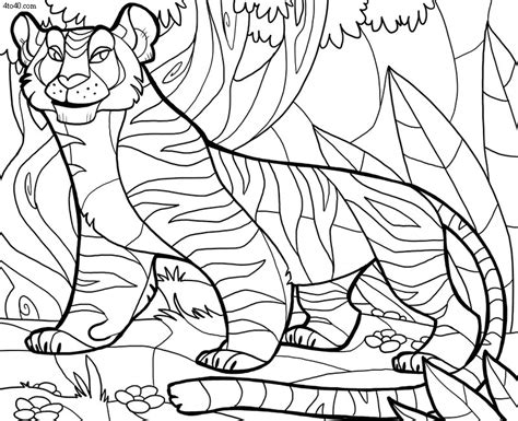 indian tiger coloring page parent free coloring pages