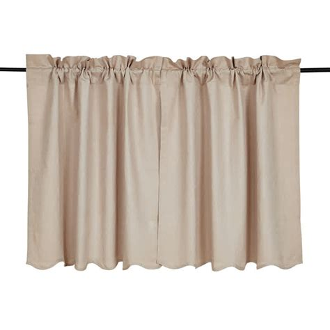 36 x 36 curtains charlotte solid natural scalloped curtain tiers 36 quot x 36 quot vhc