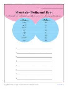 match the prefix and root 3rd grade prefix worksheets