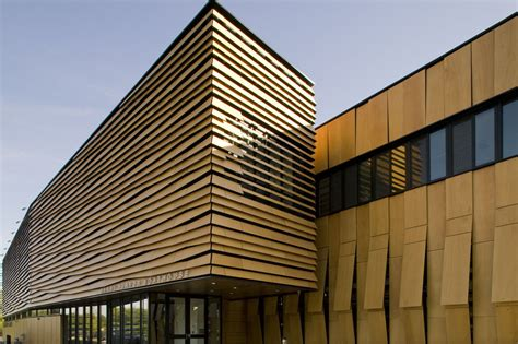 design center winton place the scaly louvers facade on boathouse in brighton 371