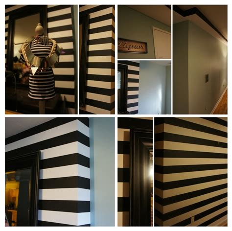 black and white striped wall black white striped accent wall in living rm modern new york by the wall ink