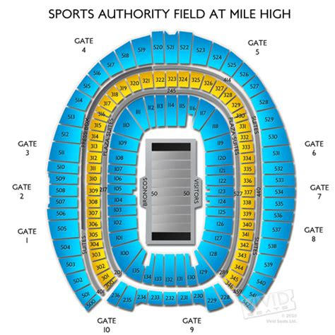 sports authority seating sports authority field at mile high denver tickets html