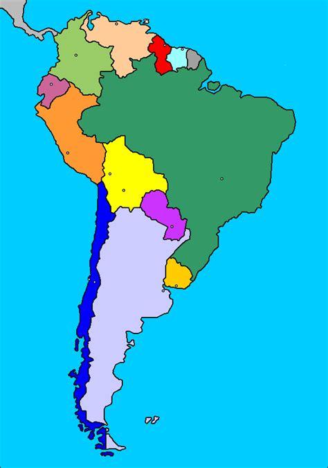 mapa de america paises mapa de am 233 rica del sur pa 237 ses hispanoam 233 rica